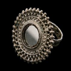 Silver Ring  Rajasthan  India  Circa Early 20th Century  Dia 5cm