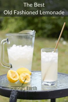 The easiest, and best tasting lemonade recipe around! All you need are lemons, water and sugar. Our foolproof method uses a syrup base to ensure the correct ratio of sugar and water in each glass of lemonade, regardless of the number of lemons you have! #summer #lemonade #drinks #fromscratch Drinks Alcohol Recipes, Non Alcoholic Drinks, Yummy Drinks, Cocktails, Cocktail Recipes, Drink Recipes, Beverages, Fun Drinks, Dinner Recipes