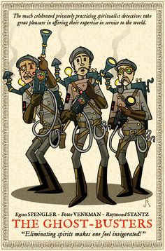 """Steampunk """"Ghostbusters"""" Illustrations"""