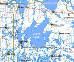 Leech lake area minnesota lake map used to vacation at cabin on leech lake sciox Image collections