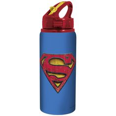 Bottiglietta in alluminio di #Superman con tappo apribile.