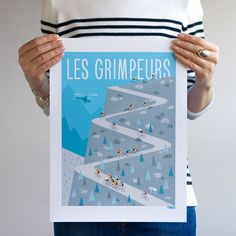 New cycling print 'The Climbers' available from our shop in two sizes A2 and 30x40cm #gumogallery #cyclingart