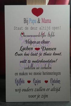 Bij papa en mama 40x60 cm