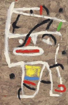 Artwork by Joan Miró, Untitled, Made of oil and gouache on prepared japan paper. compare to A. Miro Artist, Joan Miro Paintings, Spanish Art, Max Ernst, Love Art, Caricature, Modern Art, Design Art, Art Projects