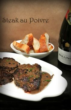 A peppery crust and a quick, creamy pan sauce turns into Steak Au Poive and makes an ordinary evening a bistro night.