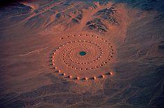 Land art . Egypte Sahara