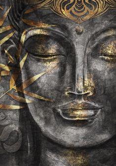 Buddha Zen, Gautama Buddha, Simple Acrylic Paintings, Acrylic Painting Canvas, Buda Painting, Ganesha Art, Tiger Art, Goddess Art, Drawing Projects