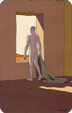 "Moebius 2003 Illustration #16 for ""L'ARBRE DES POSSIBLES"" (The Tree of Possibles) by Bernard WERBER ALBIN MICHEL Edition, Paris 2003 0722 1129 500"