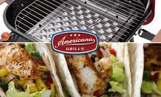 Fish Taco Tuesday with Americana Grills! 🌮🔥🐟🌮🔥🐟🌮#americanagrills #charcoalgrills #grillingseason 🌮🔥🐟🌮🔥🐟🌮 Grilled Fish Tacos, Fresh Salsa, Lime Wedge, Red Cabbage, Halibut, Just Cooking, Taco Tuesday, Grills, Cilantro