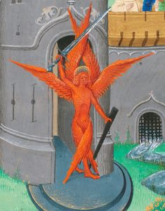 discarding images — crimson seraph prose version of Pèlerinage de vie. Medieval Tapestry, Medieval Art, Medieval Fantasy, Eslava, 70s Sci Fi Art, Danse Macabre, Byzantine Icons, Futuristic Art, Angels And Demons