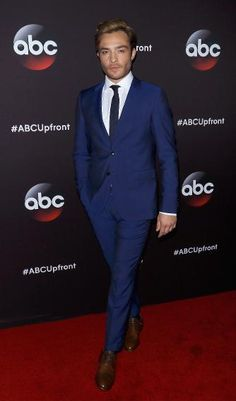 Ed Westwick attends the 2015 ABC upfront presentation.