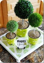 Spring Project – make a Washi Tape Topiary Centerpiece {tutorial}!