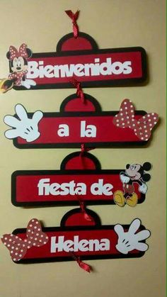 Welcome Minnie Sign Minie Mouse Party, Fiesta Mickey Mouse, Theme Mickey, Mickey Party, Mickey Mouse Clubhouse, Mickey Mouse Birthday, Mickey Minnie Mouse, Mouse Parties, Birthday Decorations