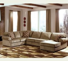 Jessa Place Dune Casual Sectional Sofa with Right Chaise by