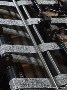 weaving New York ribbon