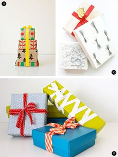 Roundup: 30+ Inspiring and Festive DIY Gift Wrap Ideas. I love the almost corset style lime one.