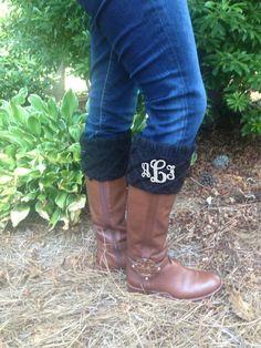 Monogrammed Boot Cuffs!   $22.95