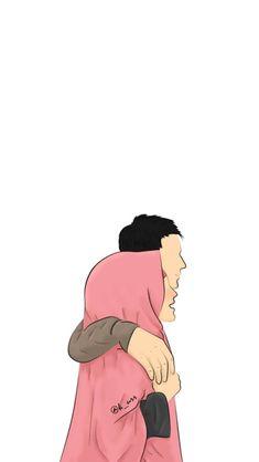 Couple Cartoon, Girl Cartoon, Cartoon Art, Cute Muslim Couples, Cute Couples, Cover Wattpad, Anime Love Story, Islamic Cartoon, Islam Women