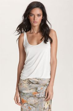 Haute Hippie Lace Back Tank available at #Nordstrom