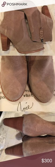 Just In Joie Dalton Boots Beautiful and in perfect condition, Dalton boots by Joie! Boots have been worn only twice so there are no major flaws. There in new like condition. Braided zippers are intact and no major stains. Super comfy and cute! NO TRADES. These boots are the tan color and are the perfect neutral shade. NO BOX BUT WILL COME WITH DUST BAG Joie Shoes