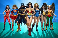 Love it! All they need is She-Ra and Cheetara. except they're not DC...