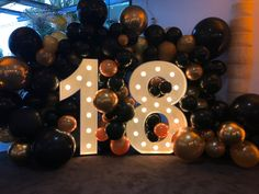 tall Light up Numbers available for hire 18 Birthday Party Decorations, Birthday Party For Teens, Balloon Decorations Party, Birthday Goals, Numbers, 21st, Sweet, Fiesta Decorations, Birthday Party Ideas