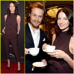 Outlander's Sam Heughan & Caitriona Balfe Drink Tea Together!