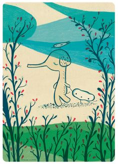 Natalia Colombo. Viaje 1. Glicée print.  Illustration. Art print.