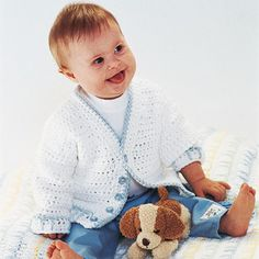 Welcome Home Baby Set.  A cardigan sweater with a matching blanket makes a great baby gift.