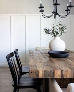 Br House, Style Deco, Dining Room Inspiration, Dining Room Design, Dining Rooms, Dining Table, Küchen Design, Home Living Room, Home Interior Design