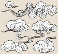 oriental cloud royalty-free stock vector art