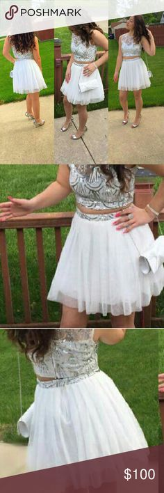 Dress 2 pc size 5/6 Beautiful silver and white Win Worn once from smoke free pet free home Windsor  Dresses Prom