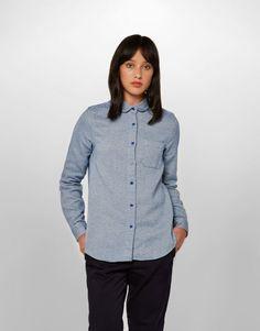 Peter Pan Collar Shirt (blue)