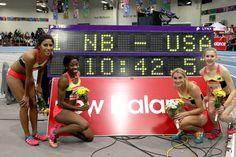 Team New Balance athletes Jenny Simpson, Sarah Brown, Brenda Martinez, Mahogany Jones and Megan Krumpoch broke records at the New Balance Indoor Grand Prix. #ARunnersDiary