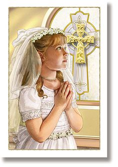 First Communion Pin - Girl