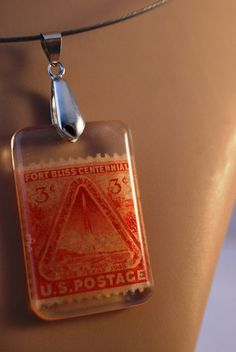 Vintage 1948 Fort Bliss El Paso TX and rocket by JewelReMotion, $15.99