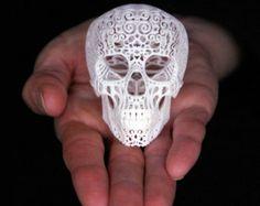 Skull Sculpture Crania Anatomica Filigre (mini) from shhark on Etsy. Saved to Bedroom. Memento Mori, Crane, Photo Vintage, Sculpture Projects, Art Sculptures, 3d Prints, Skull Art, Skull Decor, Lace Skull