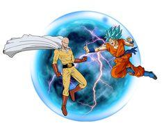 Goku Combat by Goku Vs Superman, Trill Art, Saitama One Punch Man, Strong Character, Anime Crossover, Dark Fantasy Art, Dragon Ball, Anime Art, Naruto