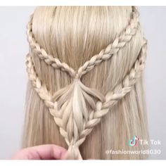 from Double braided half up half down! # Braids hairstyles videos Double Braided Half Up Half Down Easy Hairstyles For Long Hair, Box Braids Hairstyles, Braids For Long Hair, Cute Hairstyles, Protective Hairstyles, Short Hair, Hairstyles Videos, Easy Braided Hairstyles, Wedding Hairstyles