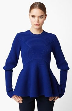 Alexander McQueen Peplum Sweater available at #Nordstrom