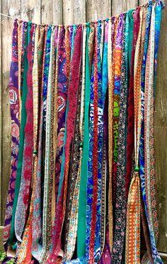 Hippie Curtains Boho Curtains Junk Gypsy Teen Room-Dorm-Hippy-Glamping Wedding Sequin Door Hanging Mandala Tapestry Rag Garland Backdrop - This - Hippie Curtains, No Sew Curtains, Drop Cloth Curtains, Beaded Curtains, Mandala Curtains, Kids Curtains, Green Curtains, White Curtains, Blackout Curtains