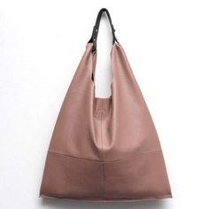 Women Hobo Bag Soft Genuine Cow Leather Fashion Shoulder Bags Female Large  Tote Bucket Shopping Handbag Liner Bag 31953ecf4a01a
