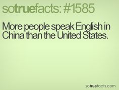 More people speak English in China than the United States.