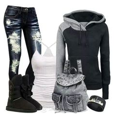 Love this. Comfortable but still edgy :) super cute cold weather outfit!