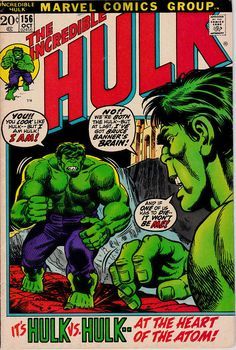 The Incredible Hulk 156 1st Series 1962-1999 October 1972