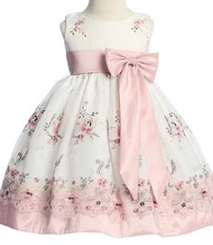 Lito - Rose Embroidered Organza Spring Dress