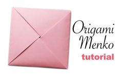 Learn how to make a traditional origami 'Menko' card, which makes a great origami envelope! Follow my easy step by step instructions to make your own!