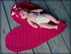 Valentine's Baby Heart Mat by EternalLightShop on Etsy