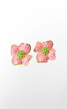 Lilly's Pink Cherry Blossom Earrings $38
