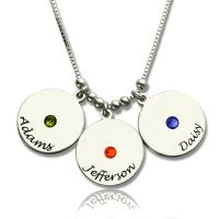 Personalized Three Triple Heart Shamrocks Necklace with Name